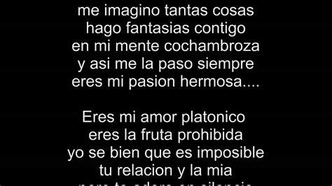 imagenes de amor para mi amor platonico letra amor platonico los tucanes youtube