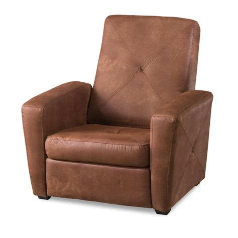recliners with storage old and rustic brown leather foldable living room chair