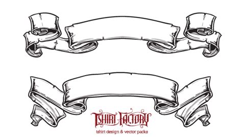 ribbon vector black white png   clip art