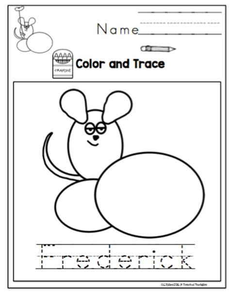 book unit quot frederick quot by leo lionni preschool printables