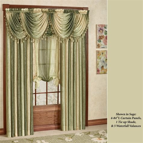 window curtain valances ombre semi sheer waterfall valances
