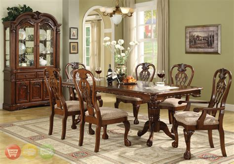 Formal Dining Room Furniture Classic Chairs As Antique Dining Room Furniture On Attractive Carpet