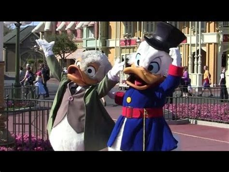 ludwig von drake & scrooge mcduck meet and greet for long