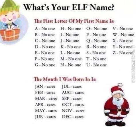 printable elf name what s your elf name