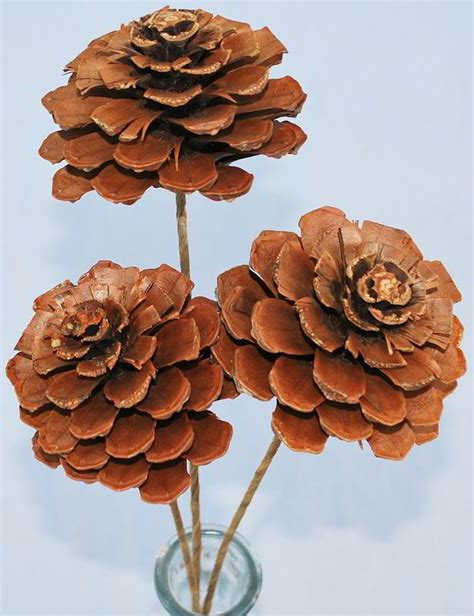 how to make pine cone flowers flower power pinterest pine cone roses stemmed or unstemmed christmas trees