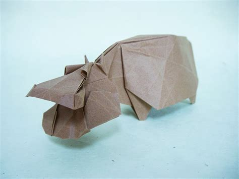 origami hippo origami safari 26 beautiful animals made out of paper