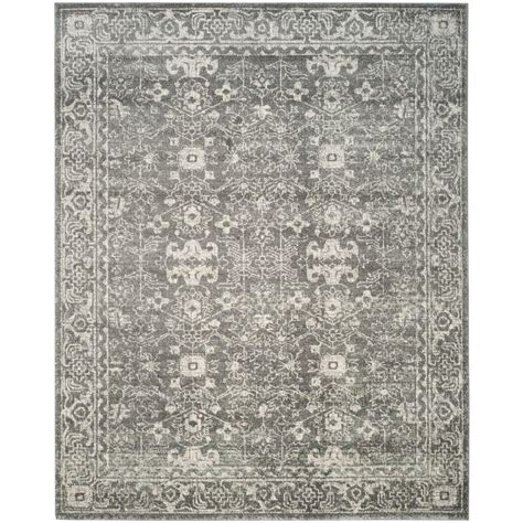 safavieh grey rug safavieh evoke grey ivory 8 ft x 10 ft area rug evk270s