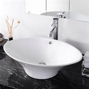 bathroom ceramic sink 24 quot l oval bathroom porcelain ceramic vessel sink white