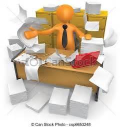 Small Study Desk Stock Illustration Of Messy Office Businessman Trying To