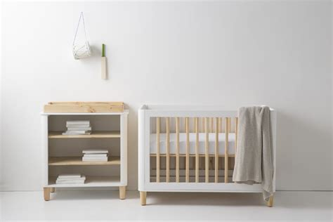 Cot And Change Table Teeny Cot A White Baby Cot From Our Modern Designer Baby Furniture Collection