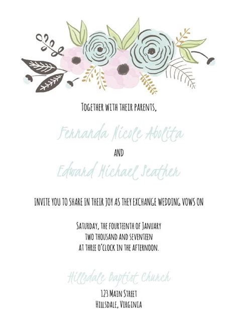 490 Free Wedding Invitation Templates You Can Customize Free Wedding Announcement Templates