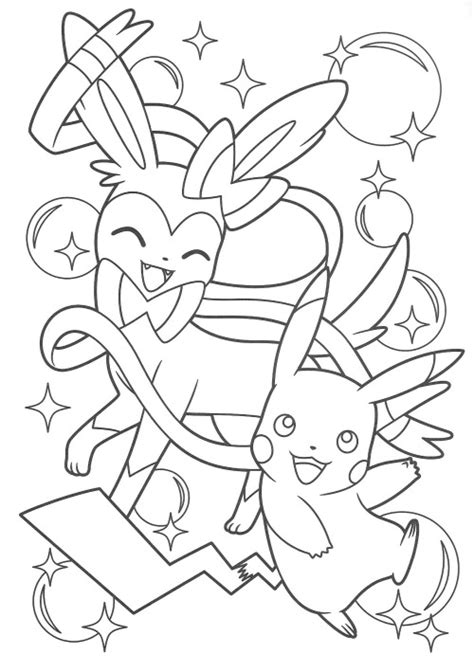 coloring pages pikachu and friends pikachu and eevee friends coloring book coloring