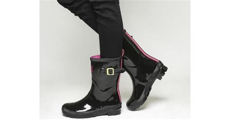 Blackkelly Bag Lsc 787 joules mid welly boots in black lyst