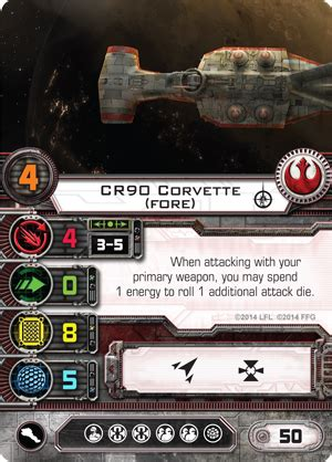 wars ffg ship card template cr90 corvette fore x wing miniatures wiki fandom