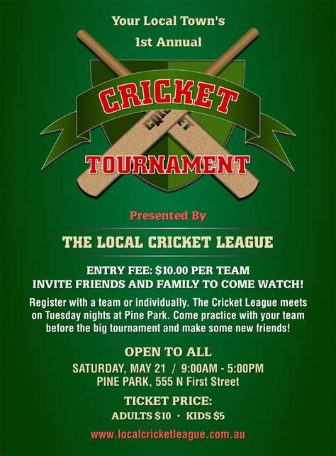 cricket birthday card template cricket tournament invitation