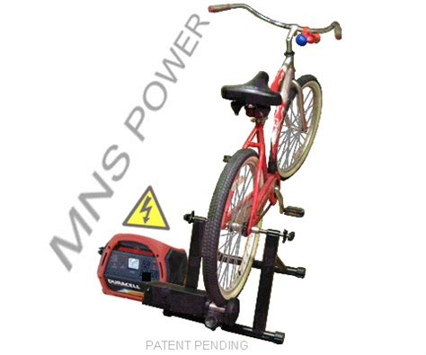 roller style bicycle generator pedal power generators
