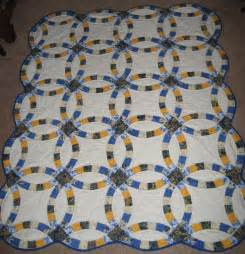 Wedding Ring Quilt Blue Navy And Quilts Wedding Ring