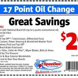 speedee oil change coupon san jose
