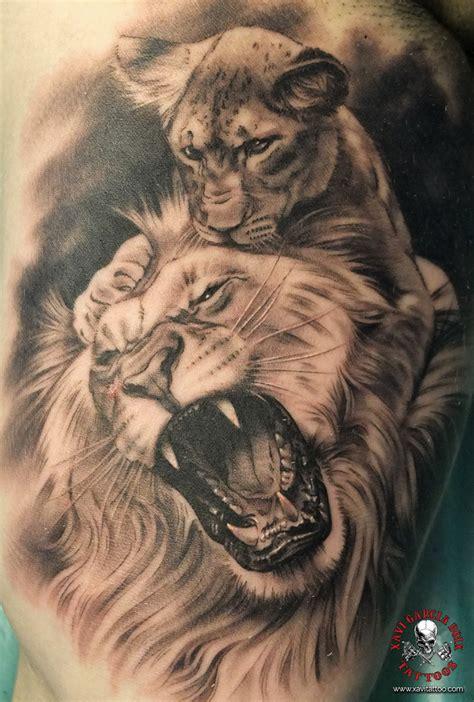 tattoo 3d leones tatuaje realista tatuaje de retratos tatuajes valencia
