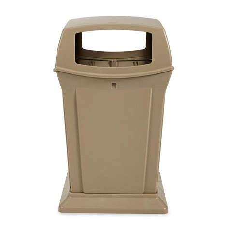 rubbermaid trash rubbermaid commercial products ranger 45 gal beige open