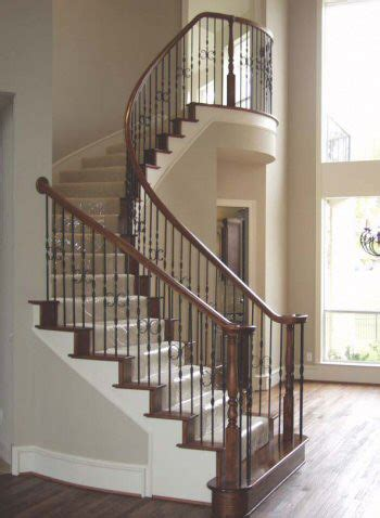 Distressed Spindle Floor L - home stair remodel traditional staircase houston