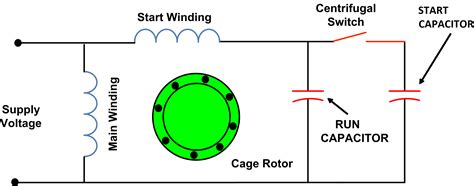 capacitor start induction run motor wiring diagram