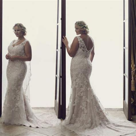 Large Size Wedding Dresses by Plus Size Mermaid Wedding Dresses 2016 Court Lace
