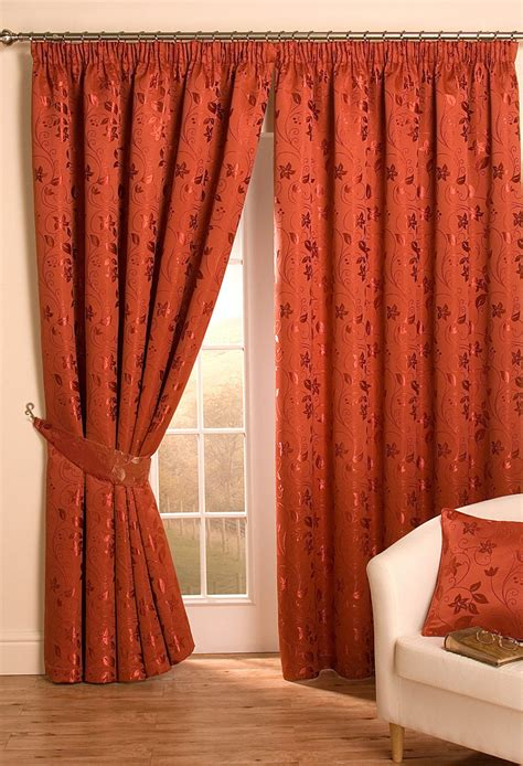 terracotta curtains ready made 100 terracotta blackout curtains floral print piped