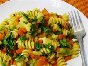 spicy vegetable pasta vegrecipes4u com