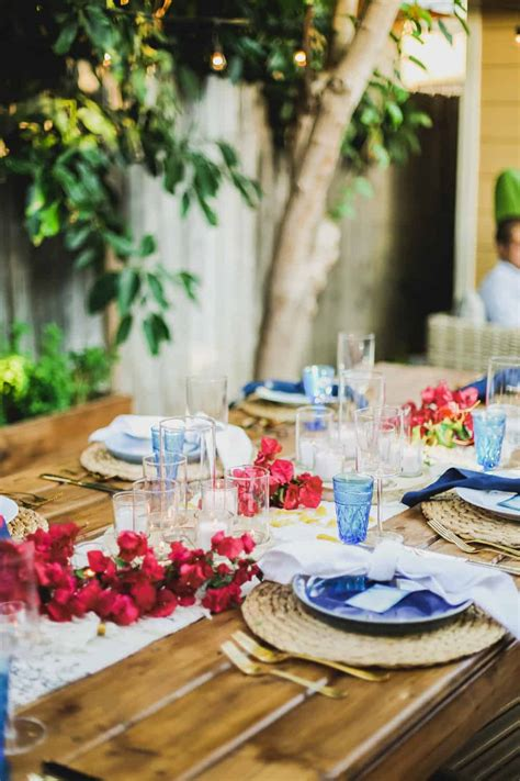 greek dinner party tablescape details college housewife