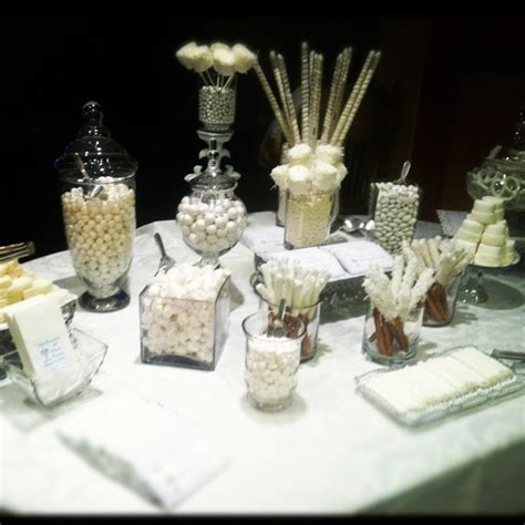 white candy first communion table decoration