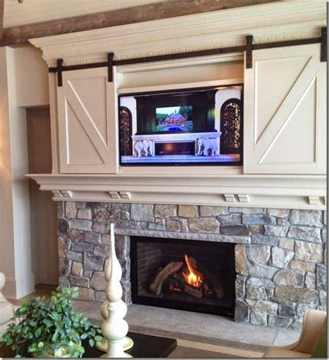 television over fireplace mizgwenmoss found the perfect design solution for hanging