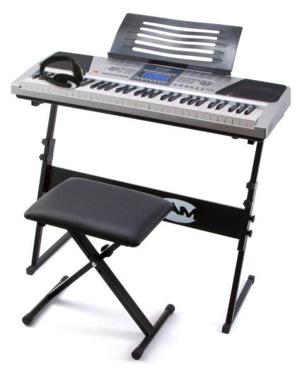 Piano Stand And Stool by Rockjam Rj661 61 Key Electronic Interactive Teaching Piano