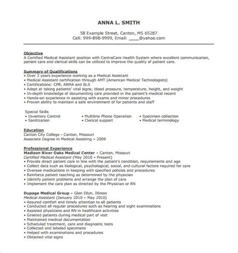 free healthcare resume templates assistant resume template 8 free word excel