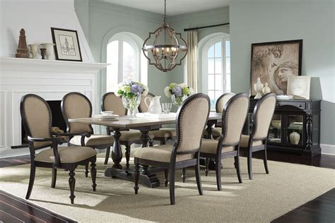 black trestle dining table standard furniture cambria 7 trestle dining table