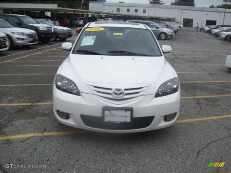 mazda 3 2005 hatchback 2005 rally white mazda mazda3 s hatchback 35177787 photo