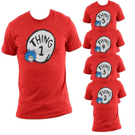 T Shirt Things thing 1 2 3 t shirt cat in the hat creative collection