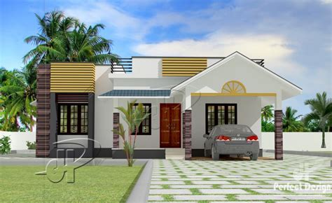 1087 square 3 bedroom modern single floor home design
