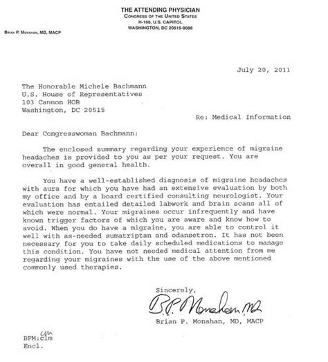 Excuse Letter Because Of Migraine bachmann releases doctor s note on migraines