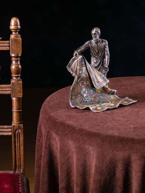 venditore di tappeti scultura in bronzo venditore di tappeti statuetta bronzo