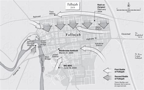 map of iraq fallujah fallujah battle map images