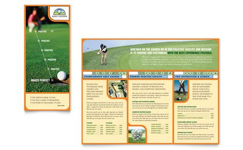 golf brochure templates golf instructor course brochure template design