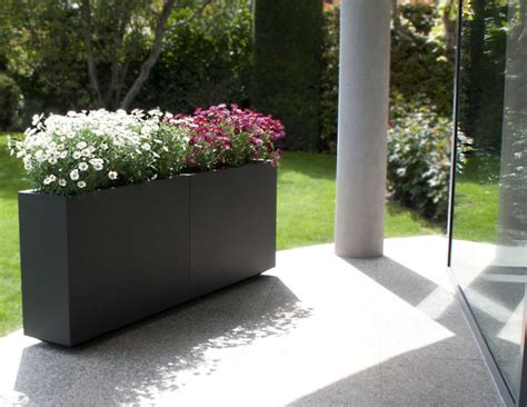divider wall custom stainless steel planter couture outdoor