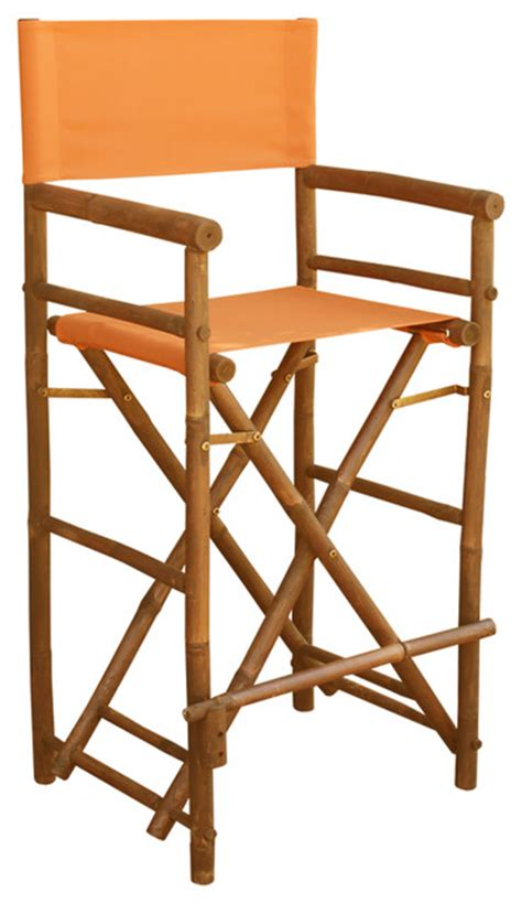 Director Chair Bar Stools by Bamboo High Director Chair Set Of 2 Tropical Outdoor