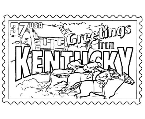 coloring pages for kentucky derby usa printables kentucky state st us states coloring