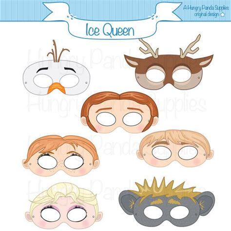 printable masks queen ice queen printable masks party mask costume snowman