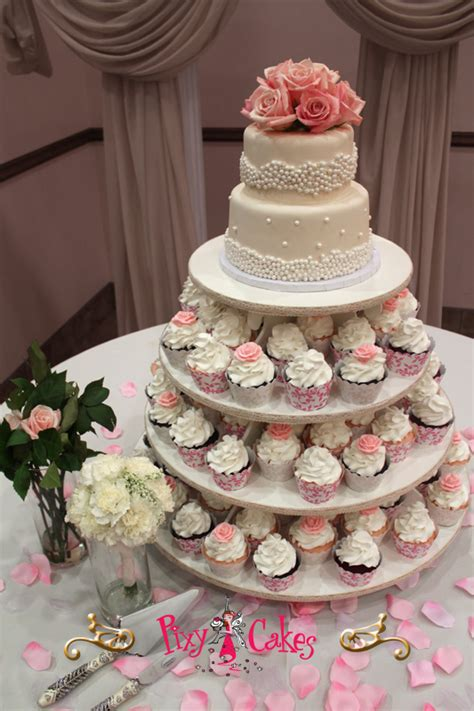 Wedding Cakes Bakery by Cupcake Towers Cupcakes And Wedding Cakes Pixy Cakes