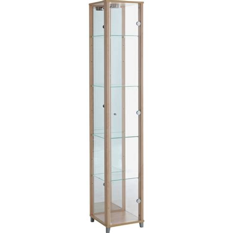 Glass Display Cabinet Argos by Buy Home Single Glass Door Display Cabinet Beech Effect