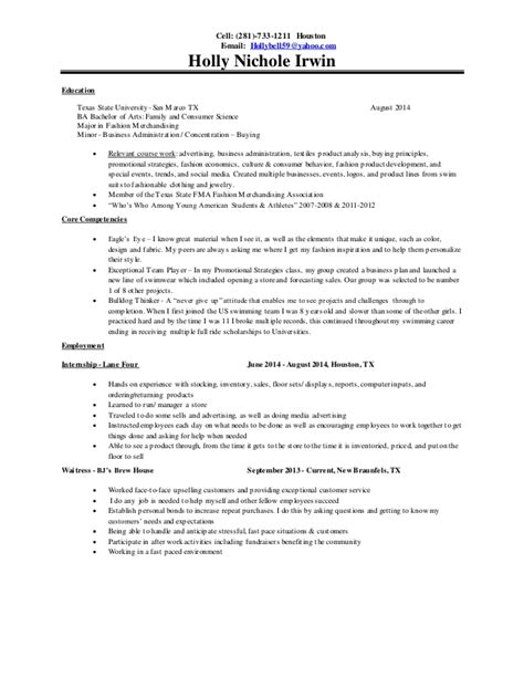 Athletic Resume Sample by Holly Irwin Resume