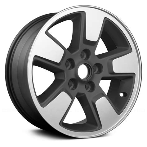 silver jeep liberty with black rims replace 174 jeep liberty 2008 2012 16 quot remanufactured 5